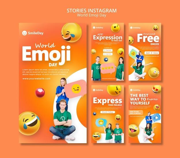 Emoji-dag sociale media-verhalen