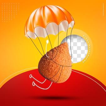 Emoji kip keuken parachute