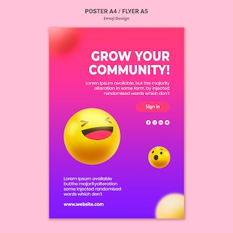 Emoji poster ontwerpsjabloon