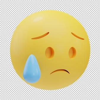 Emoji triste ilustración 3d