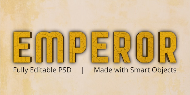 Emperor text style effect