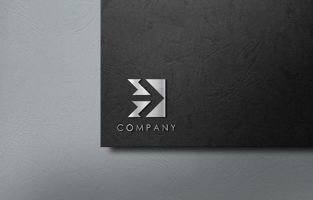 Empresa de negocios de maqueta de logotipo 3d