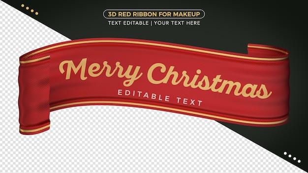 Encaje decorativo 3d feliz navidad para composición