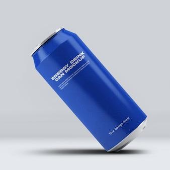 Energiedrank kan mockup ontwerp geïsoleerd