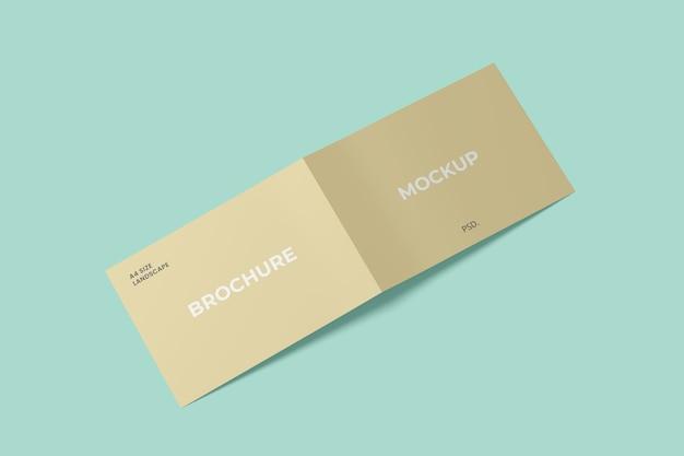 Enkel liggend tweevoudig brochuremodel