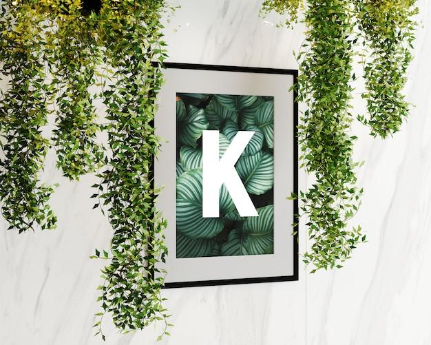 Enkelwandig frame met bloemen