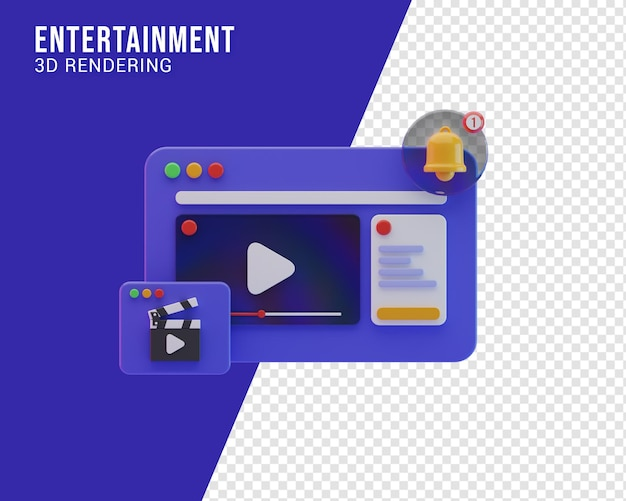 Entertainment illustratie concept, 3d-rendering