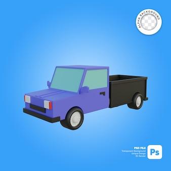 Entrega camioneta pickup vista frontal objeto 3d