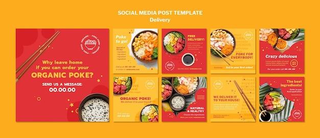 Entrega de publicaciones en redes sociales