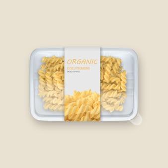 Envase de comida de plastico