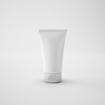 Envase de crema para el cuidado de la piel