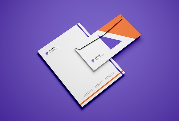 Envelop en flyer mockup