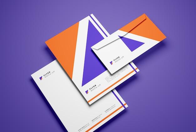 Envelop en flyers mockup