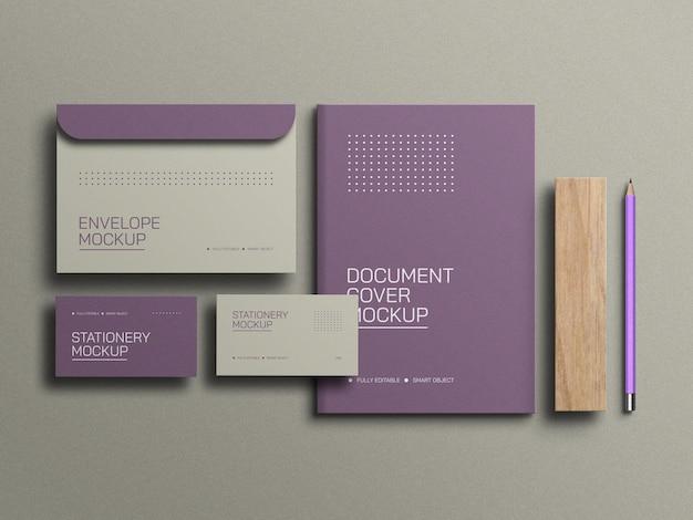 Envelop met a4 document briefpapier mockup