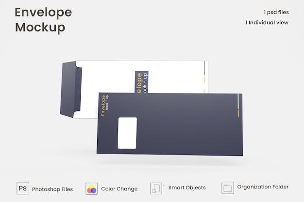 Envelop mockup-ontwerp premium psd