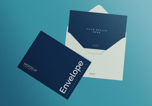 Envelop mockup ontwerpsjabloon