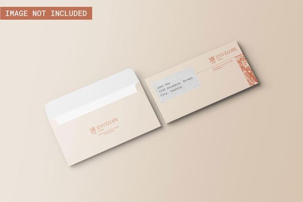Envelop mockup rechte hoekweergave