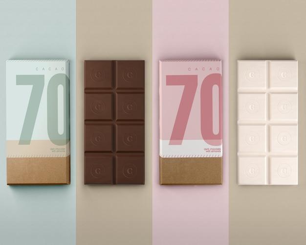 Envoltura de papel para chocolates maqueta.