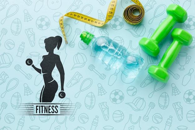 Equipamiento específico para clases de fitness.