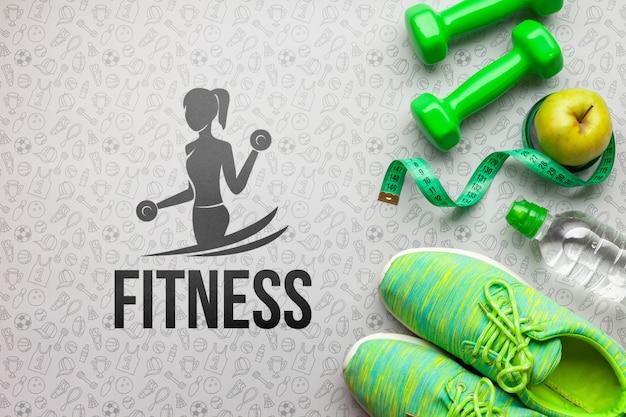 Equipo de entrenamiento de clase de fitness