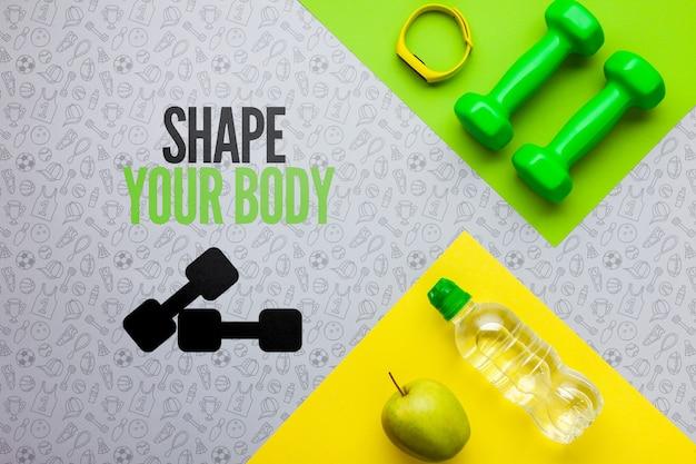Equipo de hidratación y fitness.