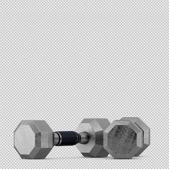 Equipo isométrico de deporte y gimnasio render 3d