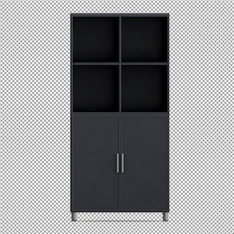 Equipo de oficina isométrico render 3d