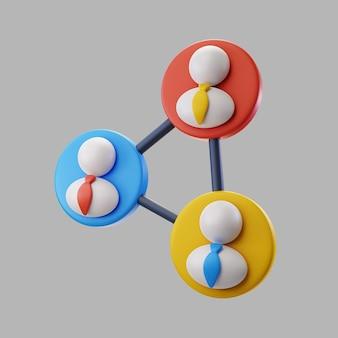 Equipo profesional de empresarios 3d