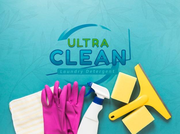 Equipo de servicio de limpieza plano