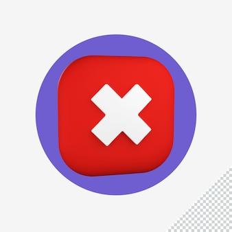 Error en la representación del icono 3d