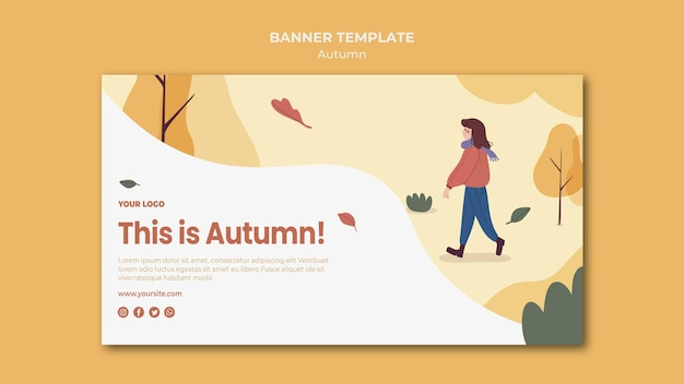 Esta es la plantilla de banner de otoño