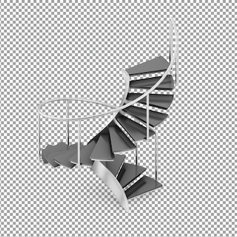 Escaleras redondas isométricas