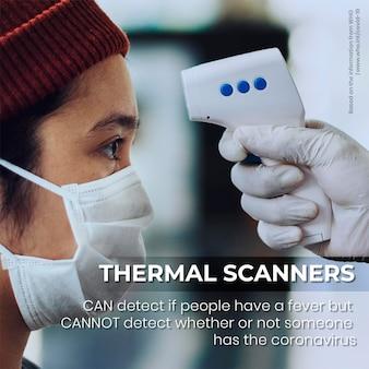 Los escáneres térmicos no pueden detectar la información de casos asintomáticos mediante la maqueta psd de la oms