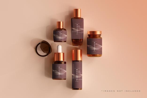 Escena de maqueta de botella cosmética