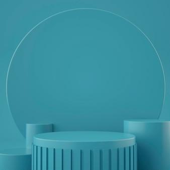 Escenario geométrico holográfico 3d para colocación de productos con fondo