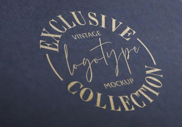 Esclusiva collezione logotype vintage mockup