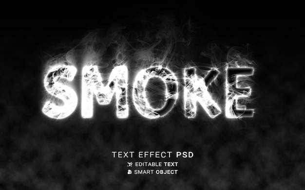 Escritura de efecto de texto de humo