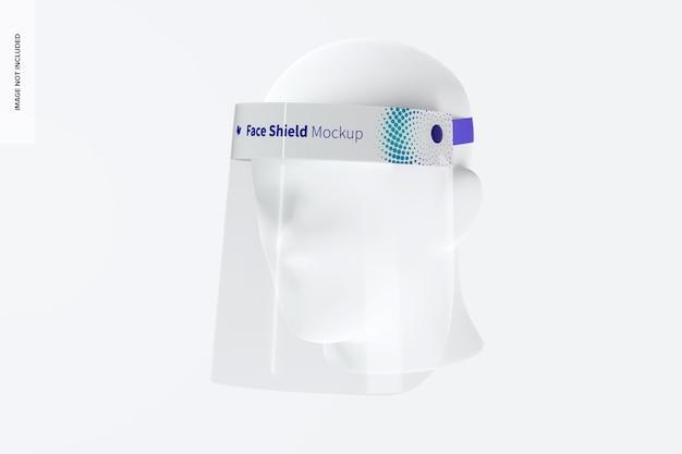 Escudo facial con maqueta de cabeza