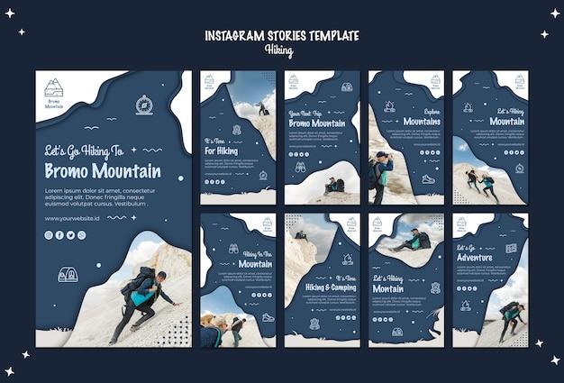 Escursionismo concetto storie instagram