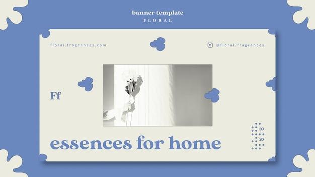 Esencias para la plantilla de banner de concepto de hogar