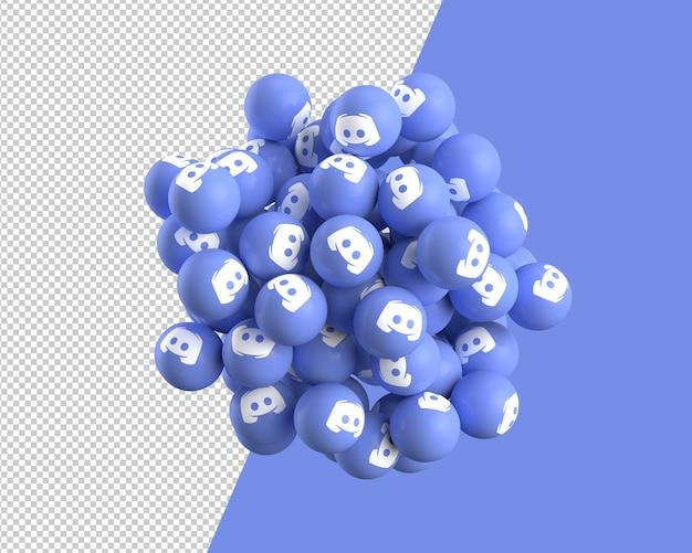 Esferas 3d de icono de discordia