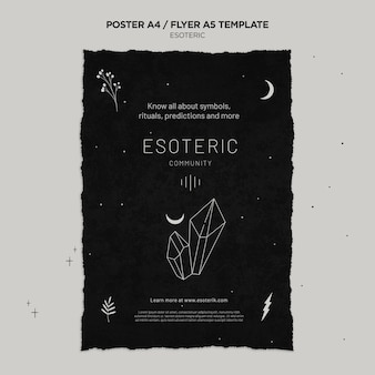 Esoterische ambachtelijke verticale poster