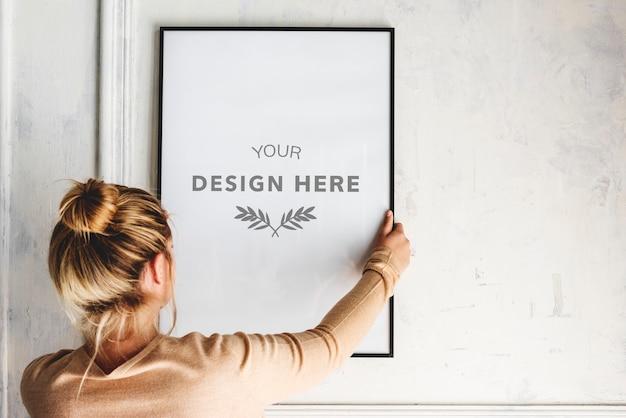 Espacio de diseño de marco de fotos