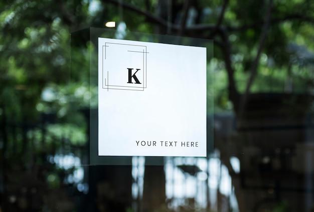 Espacio de diseño de signo de tienda