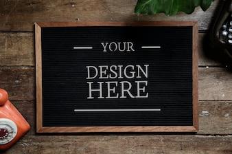 Espaço de design no quadro negro