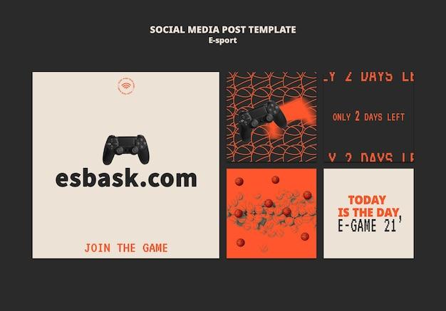 Esport social media post sjabloonontwerp