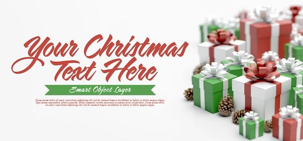 Estandarte de una escena navideña