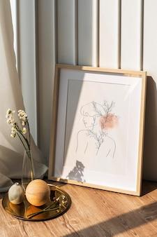Esthetisch frame mockup met ornamenten