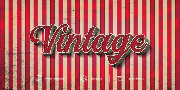 Estilo de capa de diseño de efecto de texto vintage