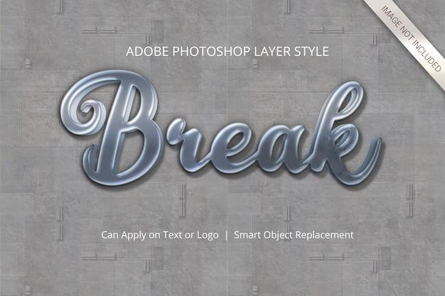 Estilo de capa de efecto de texto de photoshop